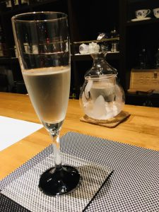 Cilled Sake in glass